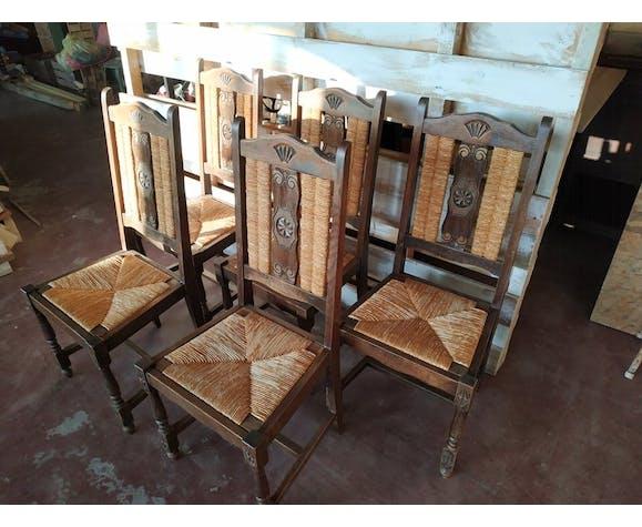 Lot de 5 chaises