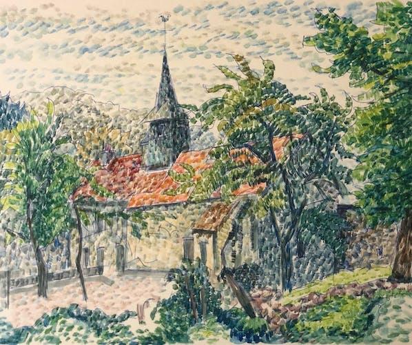 Creuse paysage pointillisme C 1948