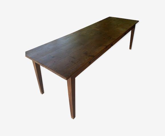 Table de ferme 250cm avec 6 tiroirs