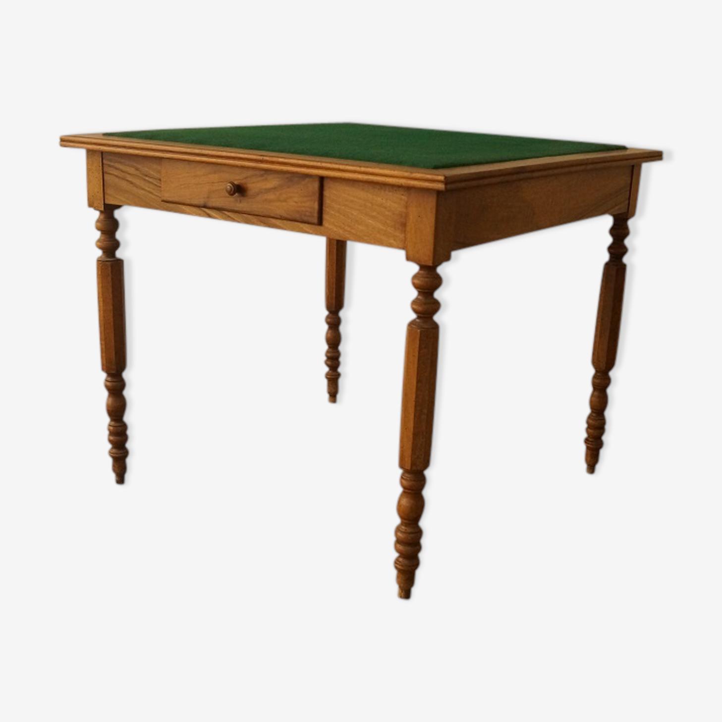 Table à jeux en noyer 1900