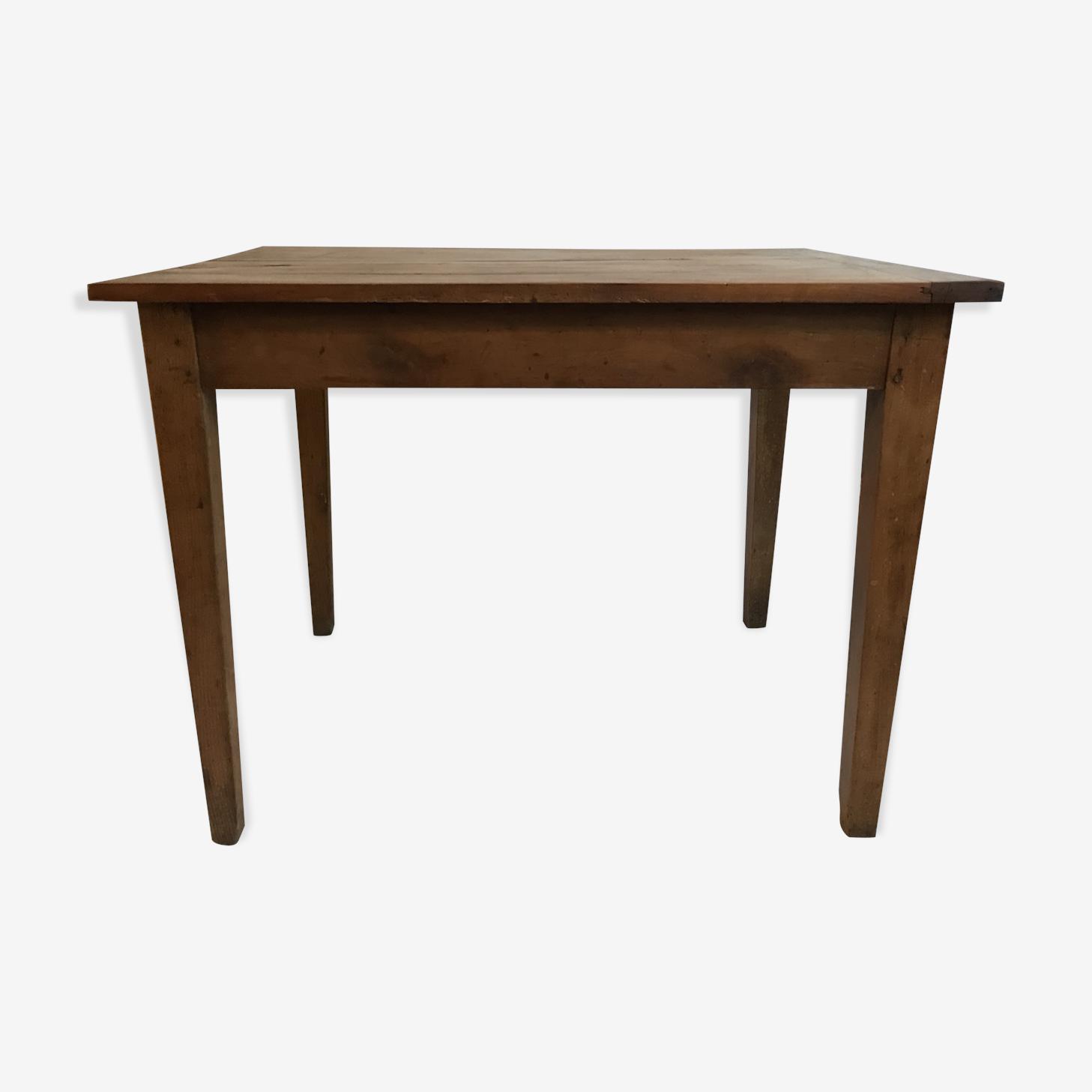 Massive wooden farm table
