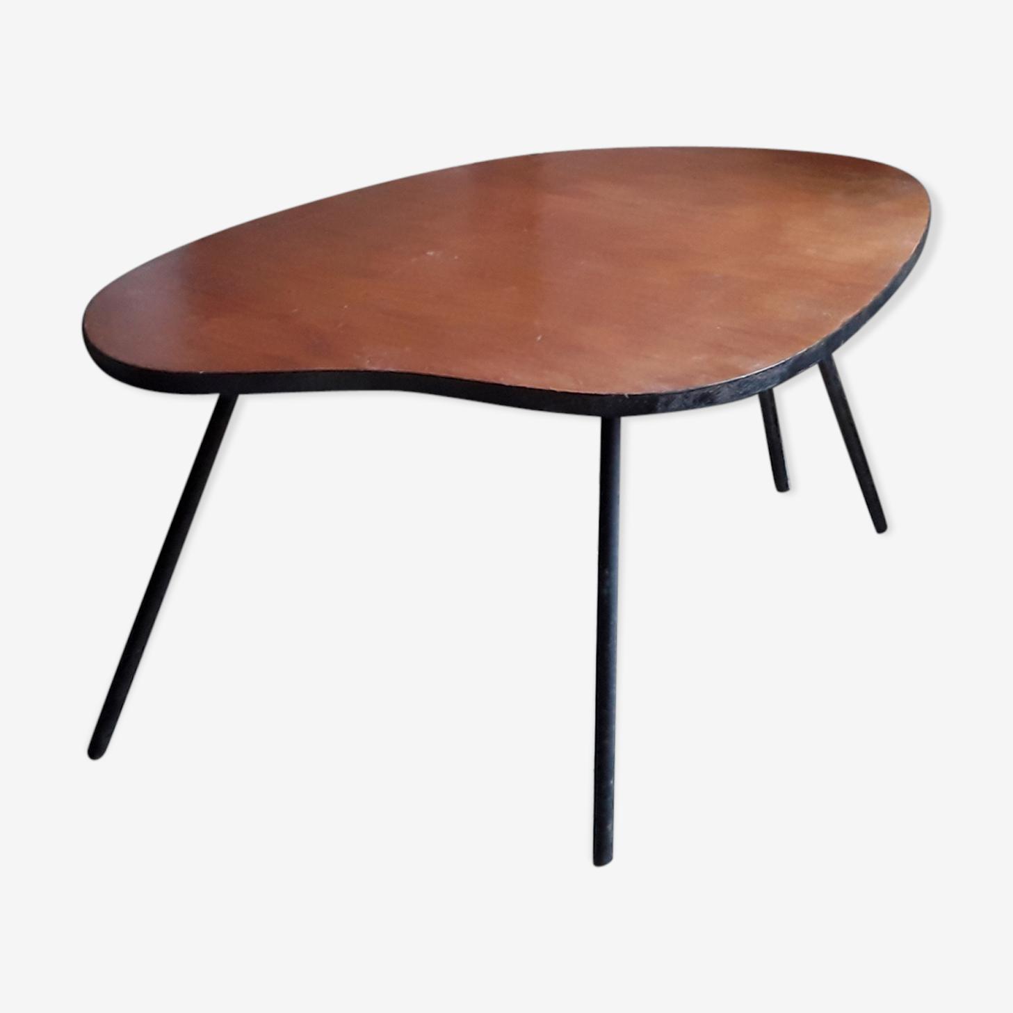Table basse de forme haricot des années 50-60