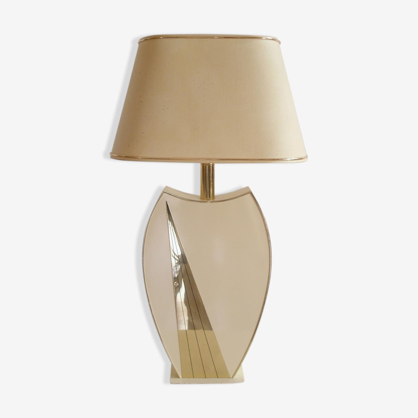 Lampe de créateur en Rhodoïd thermoformé & laiton