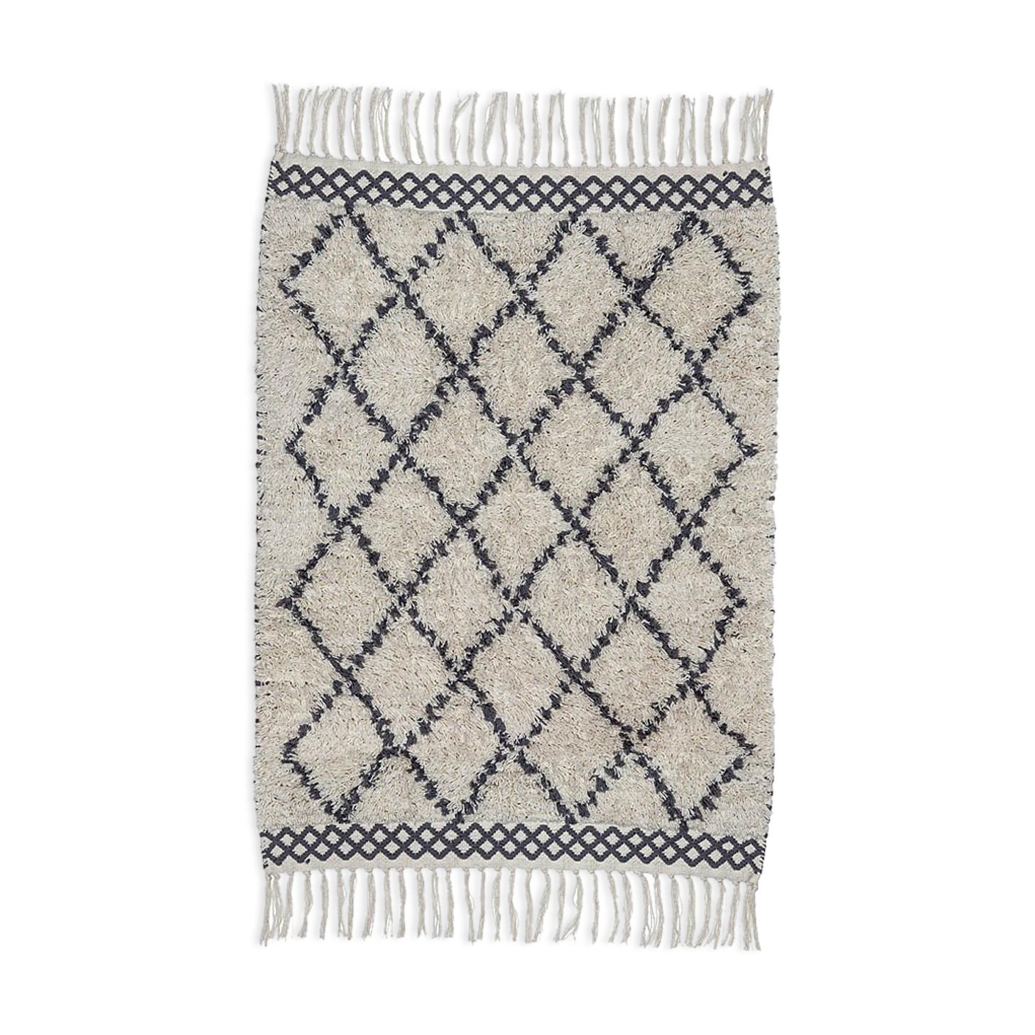 Tapis berbere en coton 70 x 140 cm
