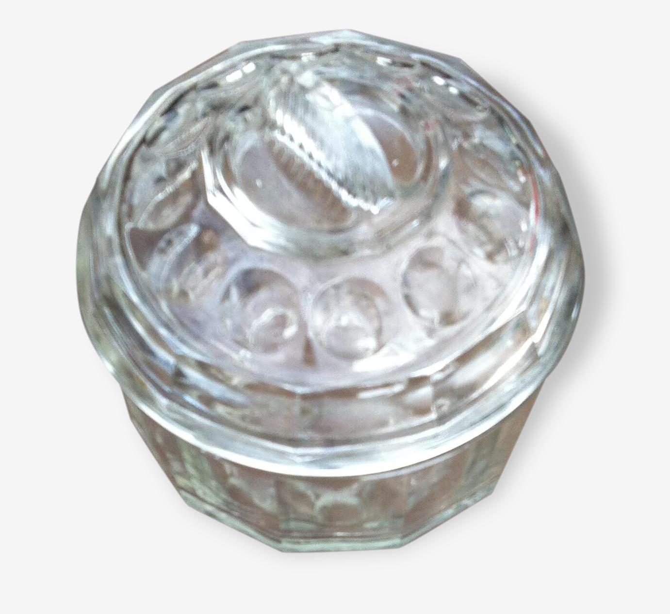 Grosse bonbonnière en verre