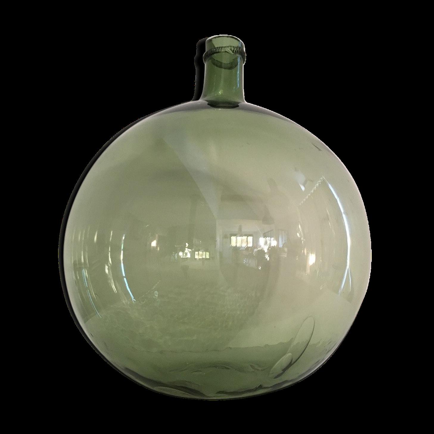dame jeanne ancienne en verre souffl de l with vase verre 100 cm. Black Bedroom Furniture Sets. Home Design Ideas