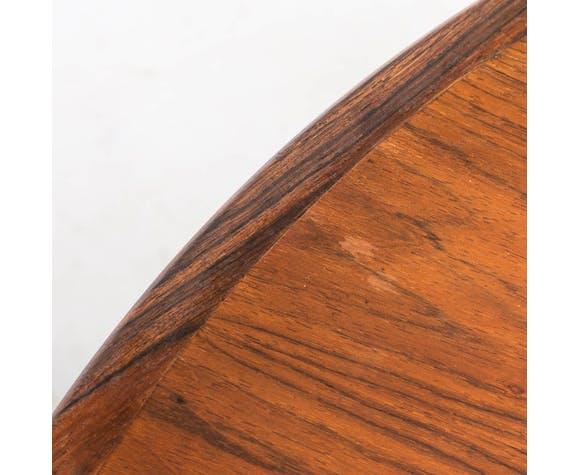 Table à manger extensible ronde en bois de rose des années 70