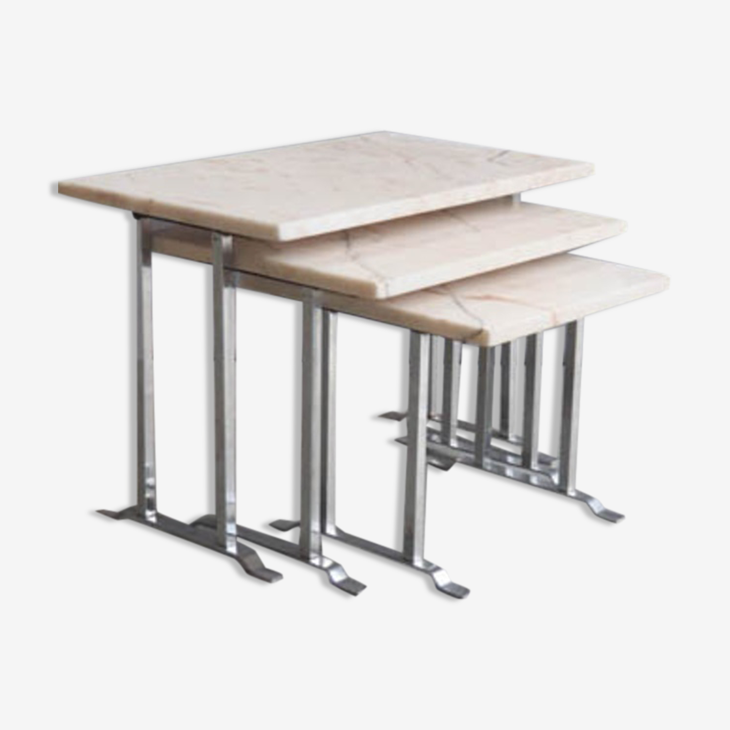 Ensemble de 3 tables gigognes