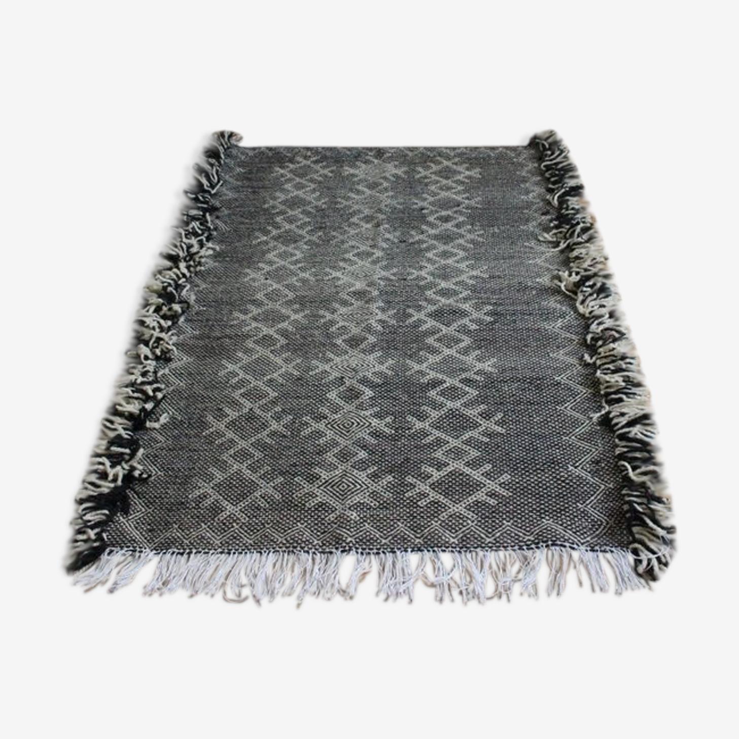 Wool hand woven zanafi carpet 113x153cm