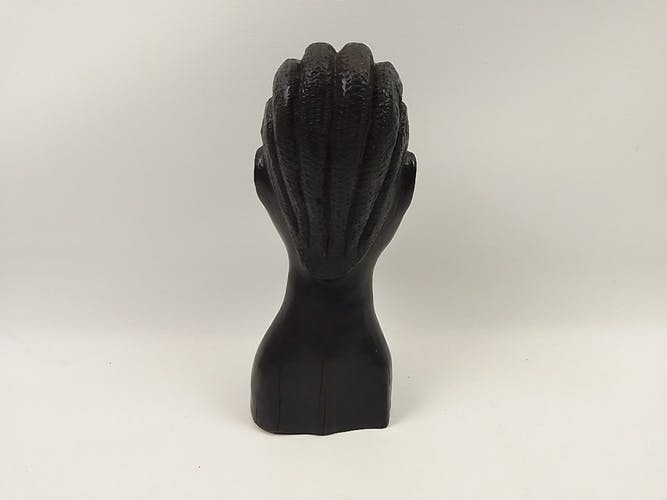 Buste en bois style africain 23 cm