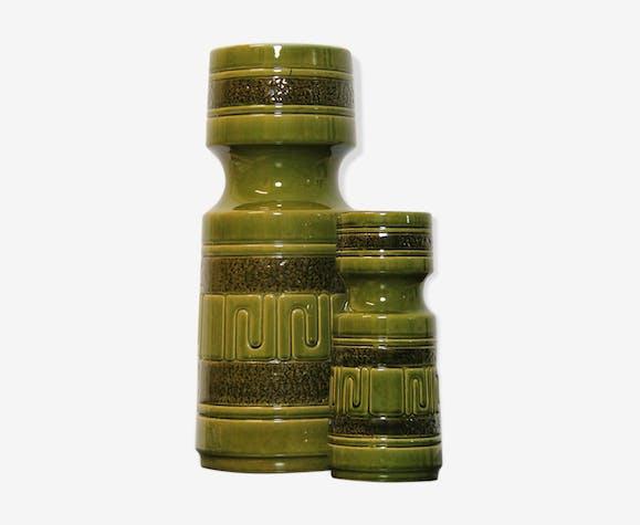 Ensemble de 2 vases en céramique modernes par Strehla