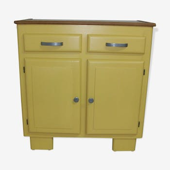 meuble de rangement de couleur jaune vintage d 39 occasion. Black Bedroom Furniture Sets. Home Design Ideas