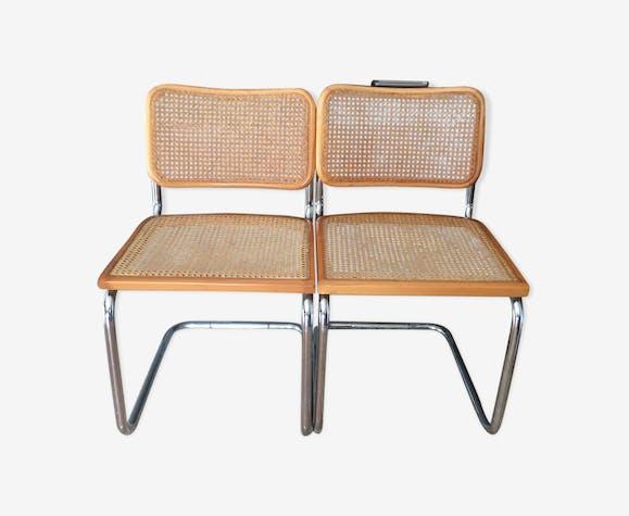 Paire de chaises cesca B32 design Breuer