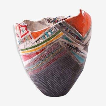 Vase en céramique la femme berbère