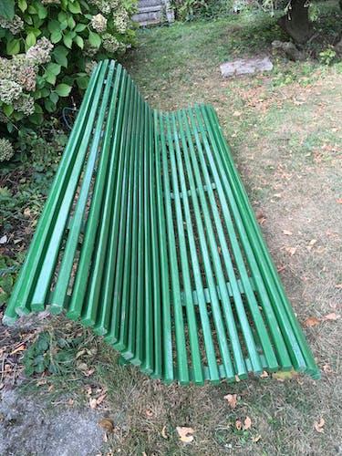 Banc de jardin en chêne pied en fonte