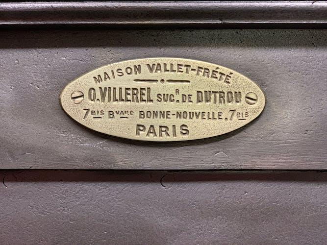 Safe by Vallet-Frété in Paris, late 19th century