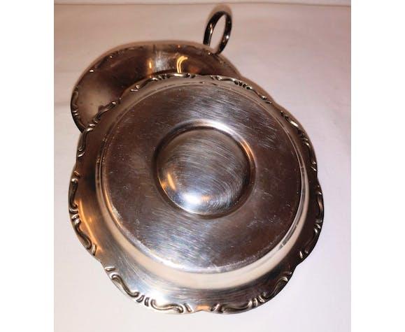Vintage silver metal tea pass
