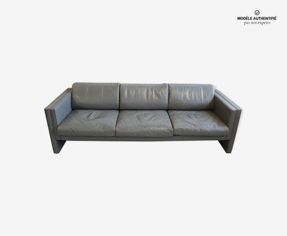 Canapé cuir gris Walter Knoll, design Jürgen Lange