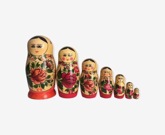 7 poupées russes Matriochka, vintage