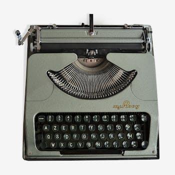 Machine à écrire mécanique, Rooy Portable, vintage 1950
