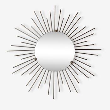 Miroir soleil métal argenté
