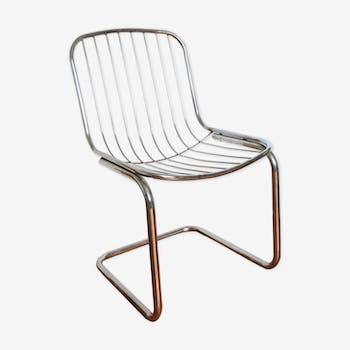 Chaise en métal chromé 1970
