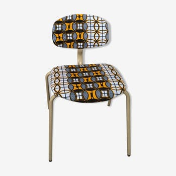 Vintage ethnic strafor tubular chair revisited with wax