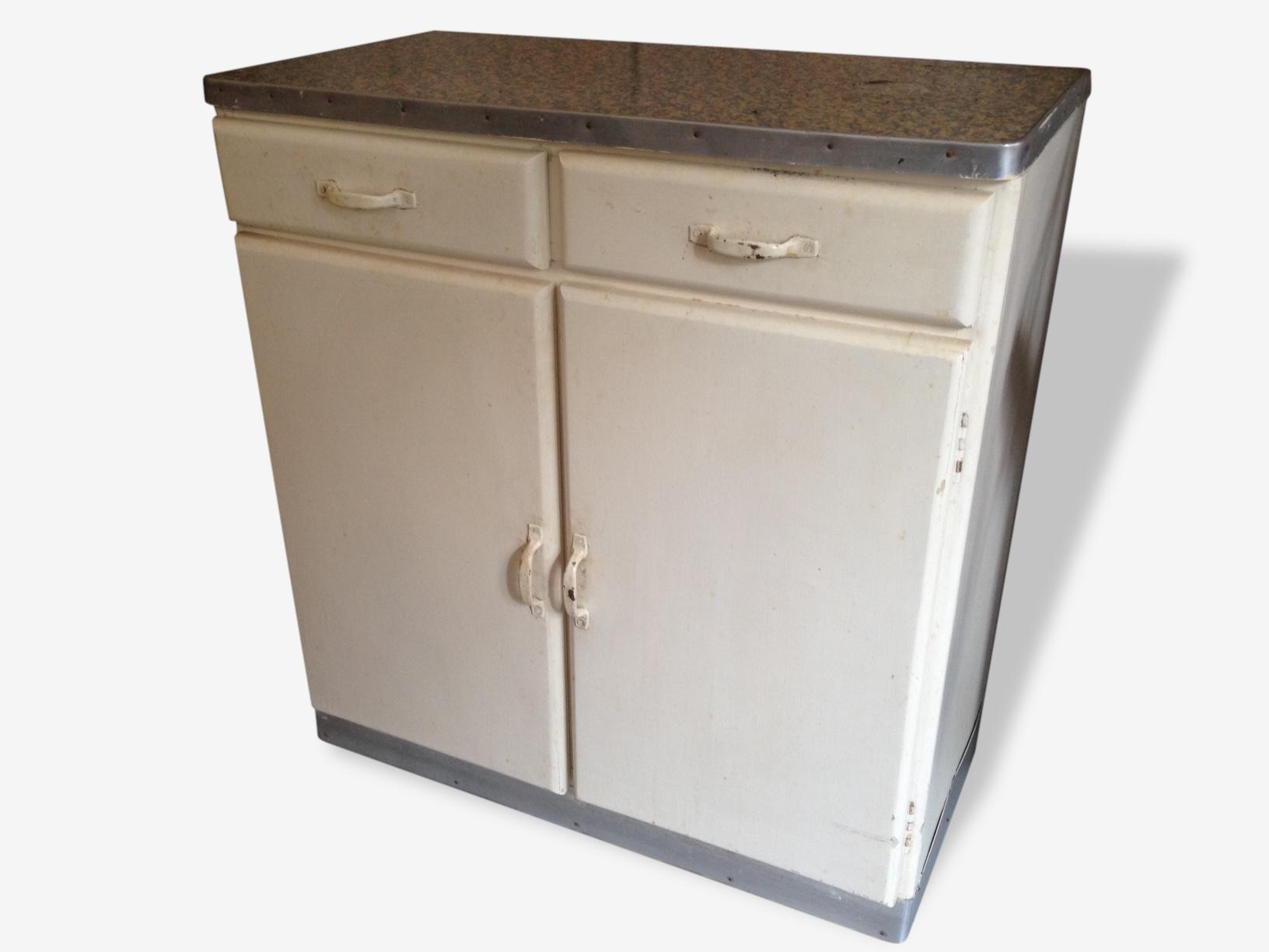 Meuble Mado petit meuble mado années 50 - bois (matériau) - beige - vintage - 137935