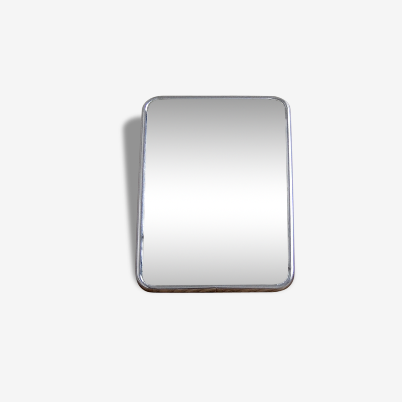 Miroir de barbier dos carton rouge