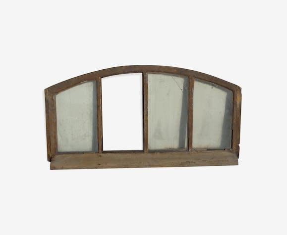 Imposte cintr de porte d 39 entr e bois mat riau bois couleur industriel ozmwhhz - Imposte pour porte d entree ...