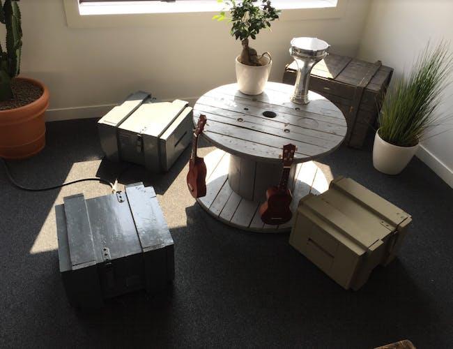 Ensemble  de 3 caisses en bois peint