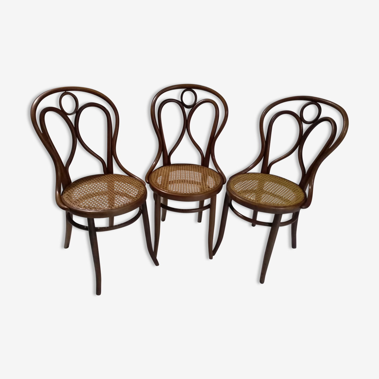 Following 3 Bistro chairs Fischel 1900