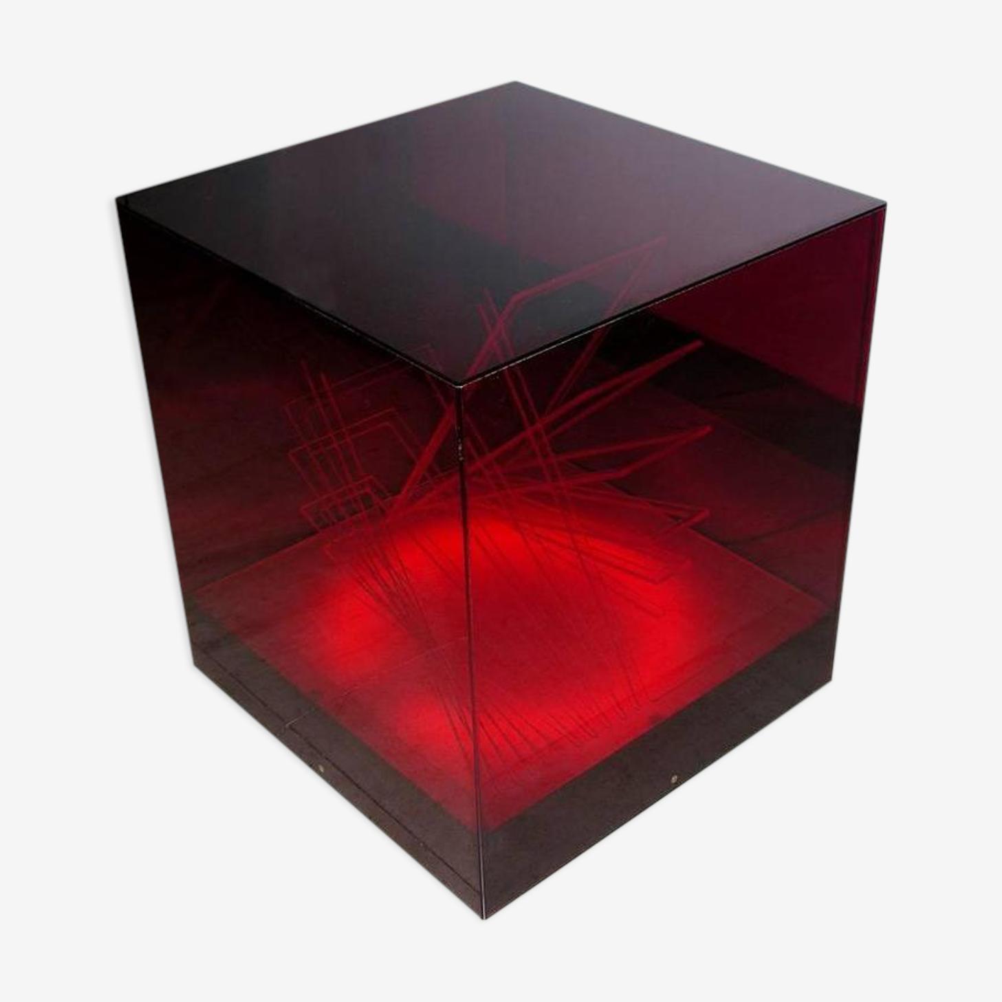"Lampe de table ""Cubo di Teo""  James Rivière vers 1970"