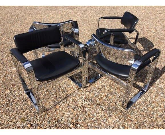 Lot de 4 fauteuils par Eero Aarnio pour Mobel, Italia, '1968'