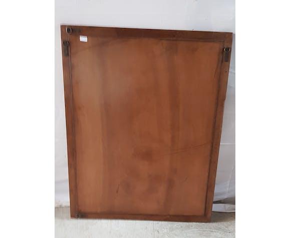 Ancien miroir avec cadre en teck - 116x91cm