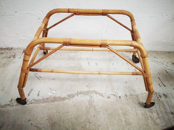 Cradle couffin rattan 1950