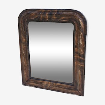 Louis Philippe style mirror 38 x 31 wood and stuccuse
