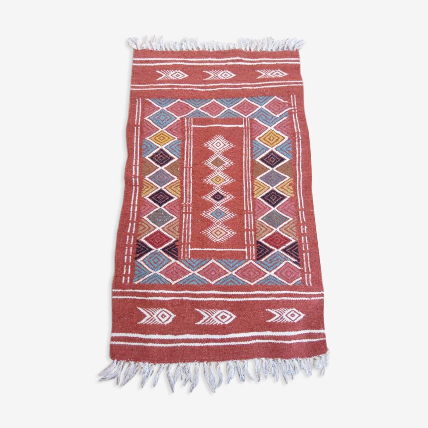 Handmade berber kilim rug 60x100cm