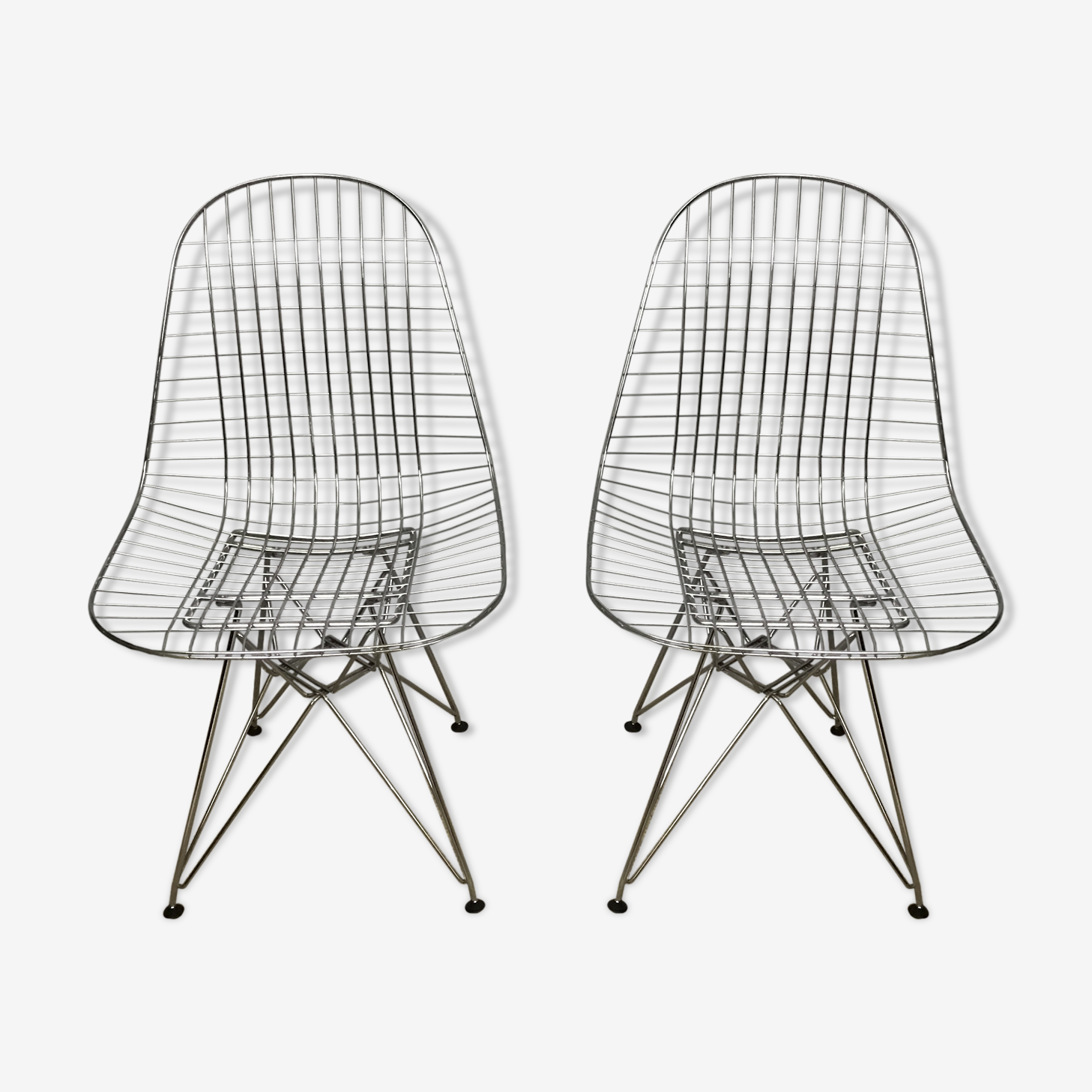 """Pair of chairs """"DKR"""" of Charles & Ray Eames by Vitra"""