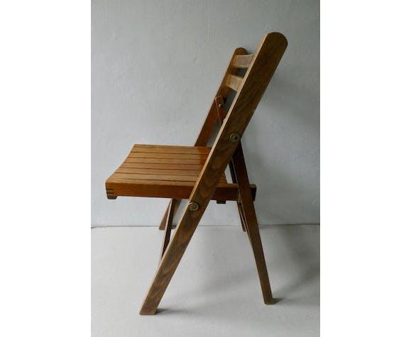 Chaise enfant, en bois, pliante, années 70