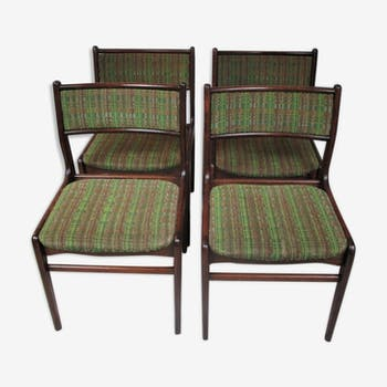 Set of four chairs, Denmark, 1970s