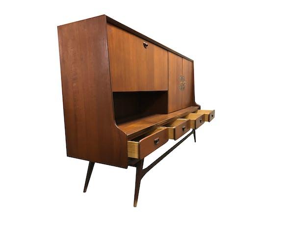 Teak cabinet by Louis Van Teeffelen & Jaap Ravelli for Wébé, 1950s