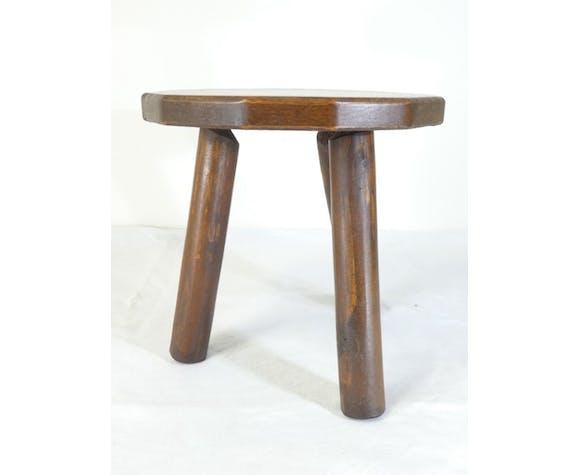 Tabouret tripode bois des années 50