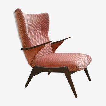 Fauteuil recliner Waing Chair Relax  années 50 60 vintage