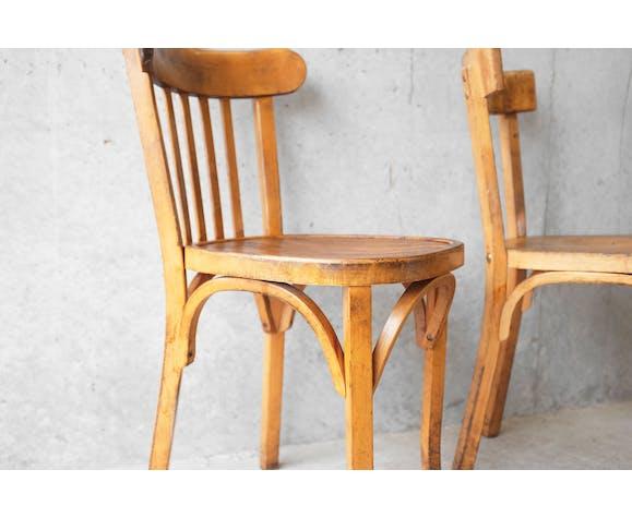 Baumann  4 chaises de bistrot dépareillées