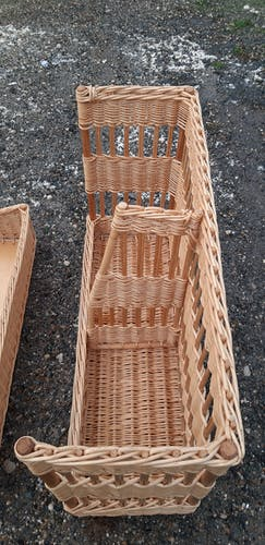 Bakery shelf in wicker