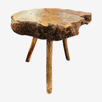 """Table en bois massif d'inspiration """" Brutaliste """""""