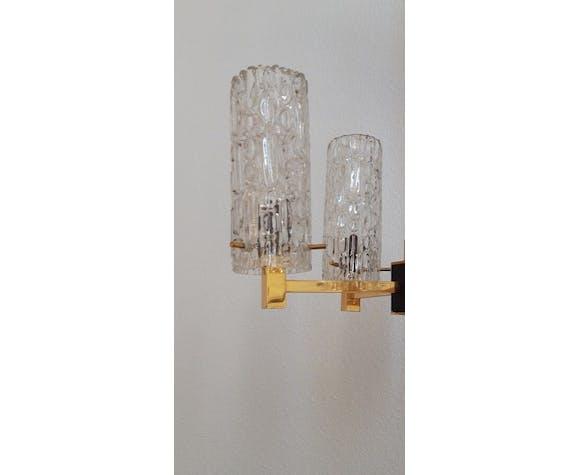 Lot avec lustre et 2 appliques Arlus années 60 vintage