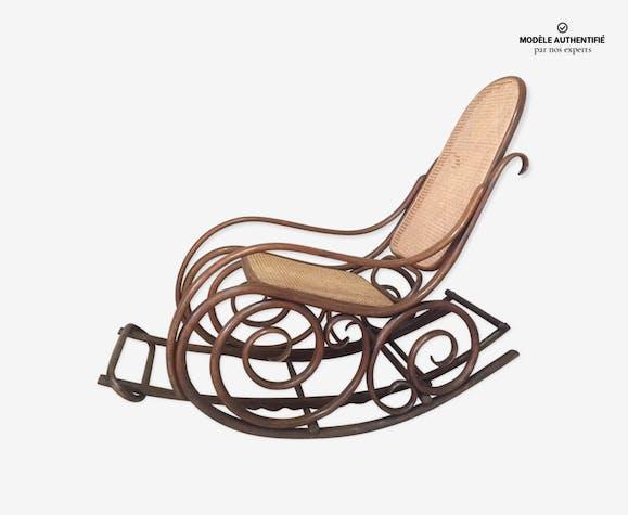 Rocking Chair Thonet 1900 Cannee Bois Materiau Bois Couleur