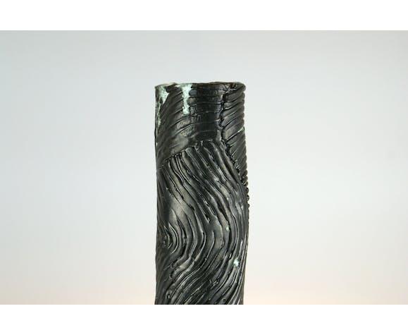 Vase en céramique brutaliste, Studio Pottery
